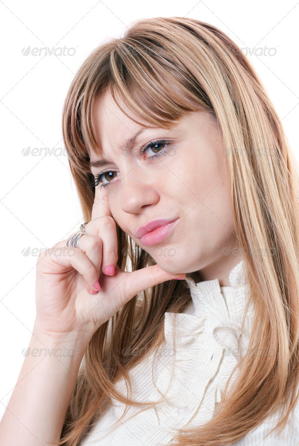 Girl Thinking - Stock Photo - Images
