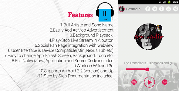 CodeCanyon Android Internet Radio Application 6641174
