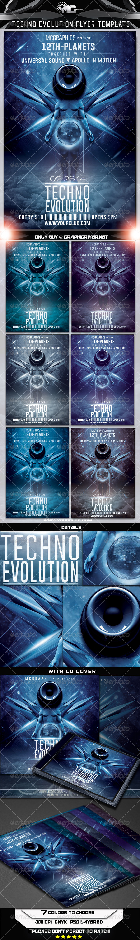 GraphicRiver Techno Evolution Flyer Template 6641180