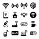 Wireless Technology, Wi-Fi Web Icons Set - GraphicRiver Item for Sale