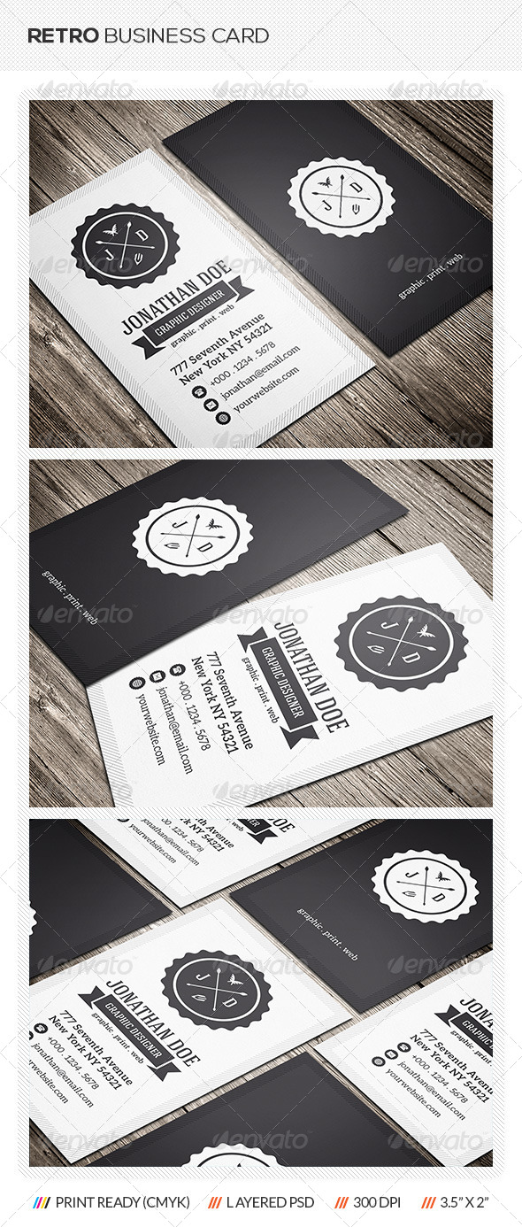 GraphicRiver Retro Business Card 6642440