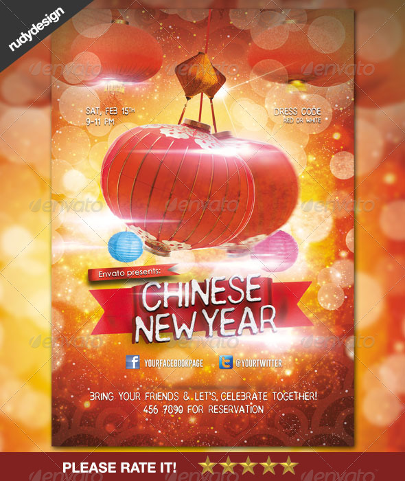 GraphicRiver Chinese New Year Celebration Flyer Design 6642519