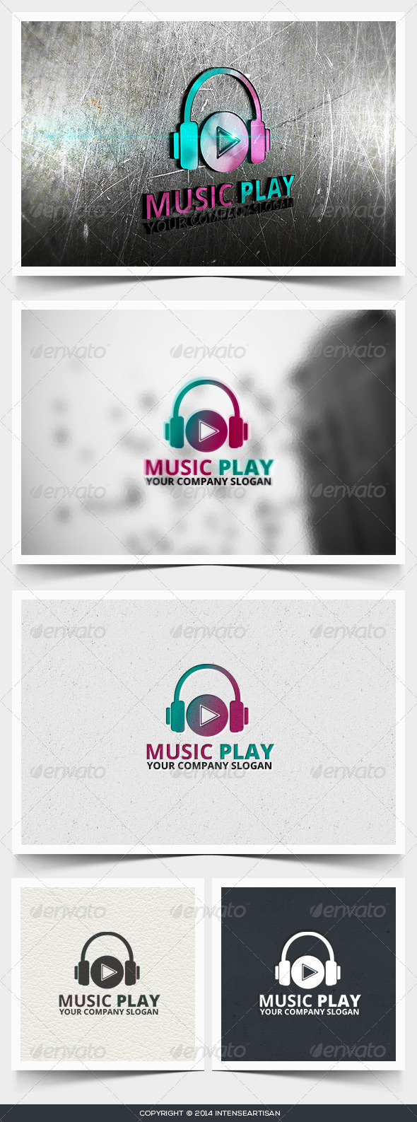 GraphicRiver Music Play Logo Template 6642751