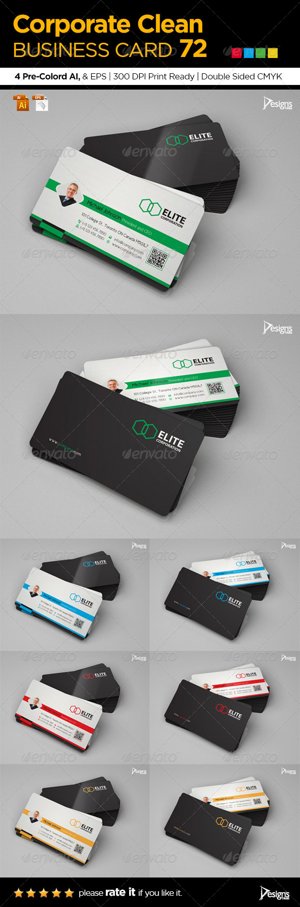 GraphicRiver Corporate Clean Business Card 72 6642782