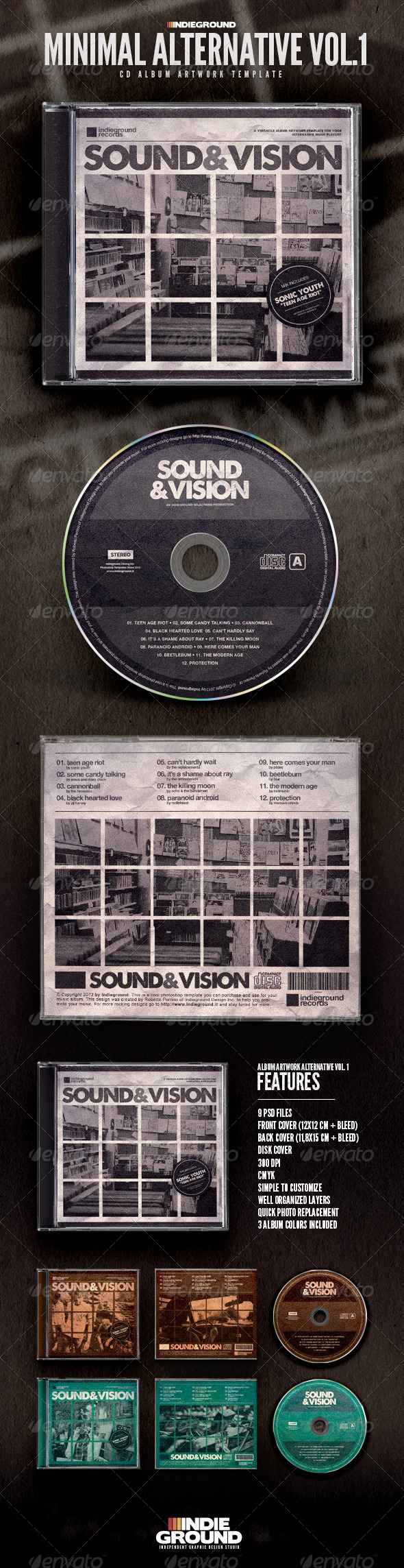 GraphicRiver Minimal Alternative CD Album Artwork 6643287