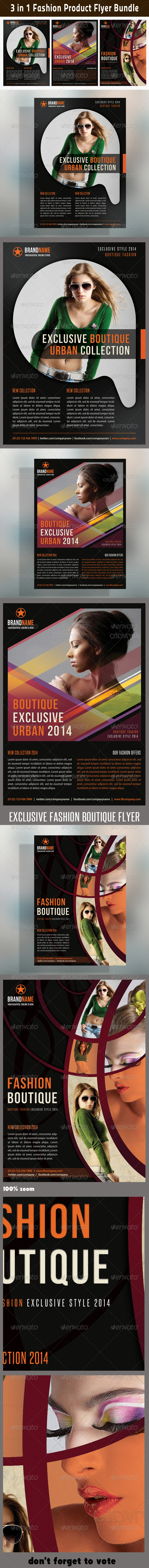 GraphicRiver 3 in 1 Fashion Product Flyer Bundle 08 6643721
