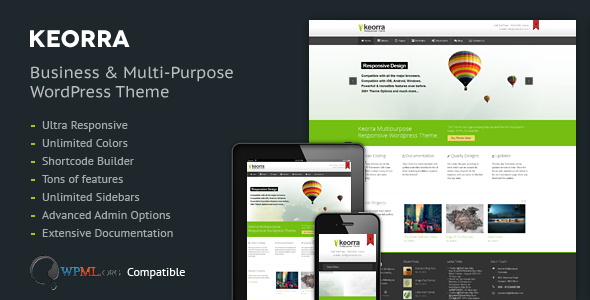 Keorra Multipurpose Responsive Wordpress Theme