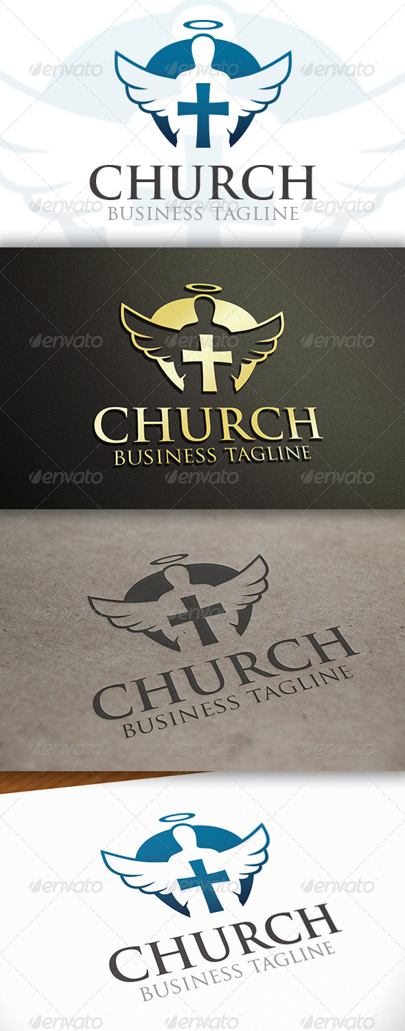 GraphicRiver Modern Church Logo Template 6643785