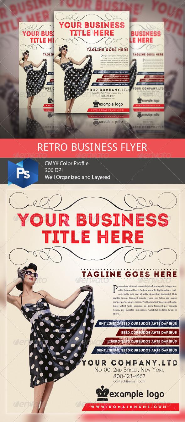 GraphicRiver Retro Business Flyer 5328388
