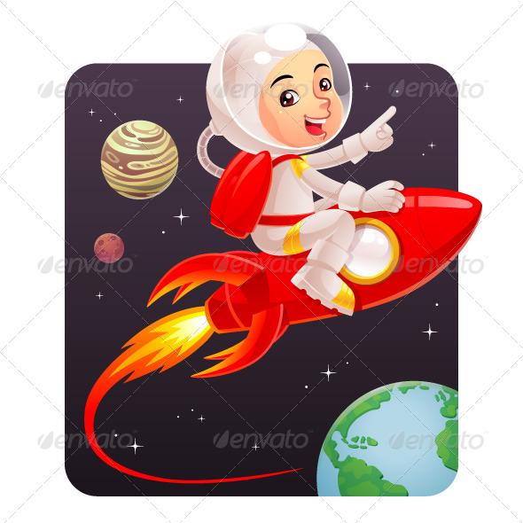 GraphicRiver Astronaut Kid 6644010