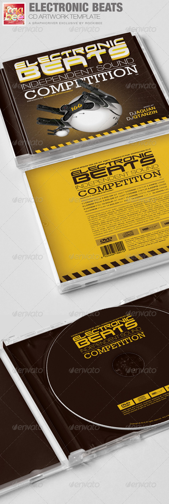 GraphicRiver Electronic Beats CD Artwork Template 6644299