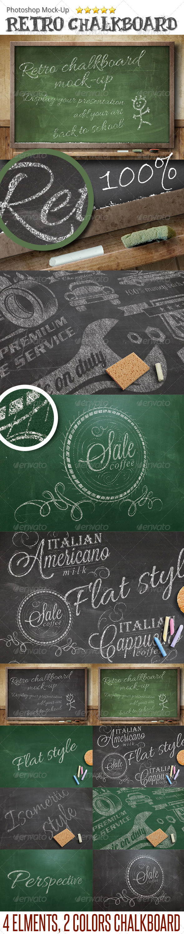 GraphicRiver ChalkBoard Mock-Up 6644554