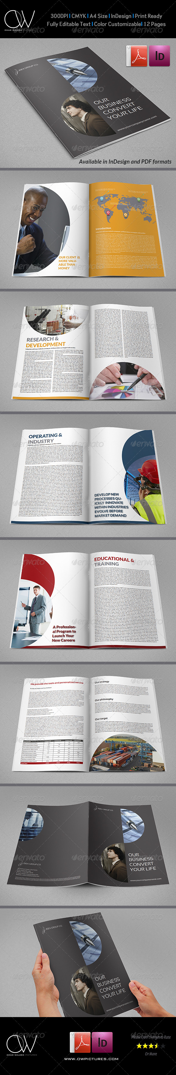 GraphicRiver Corporate Brochure Template Vol.20 12 Pages 6636339