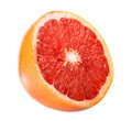 Half a grapefruit on white background - PhotoDune Item for Sale