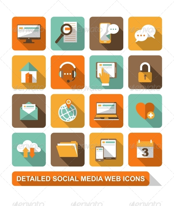GraphicRiver Social Media Web Icons 6646279
