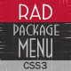 Rad - Package Menu - CodeCanyon Item for Sale