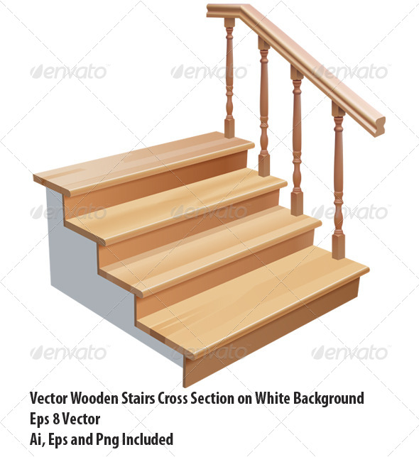 GraphicRiver Wooden Stairs 6647546