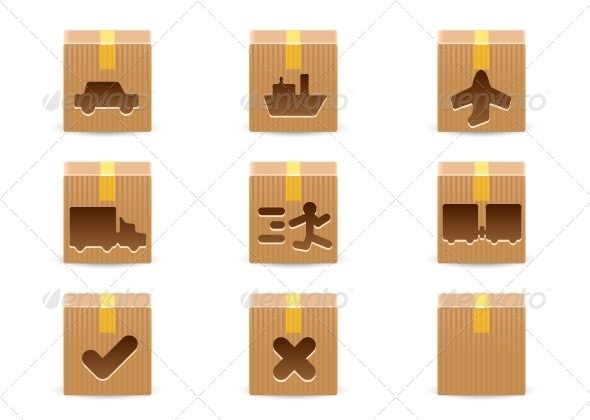 GraphicRiver Delivery Cardboard Boxes 6648015