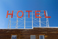 Hotel Sign on Old Wooden Building - PhotoDune Item for Sale