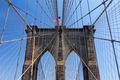 American Flag on the Brooklyn Bridge, New York City - PhotoDune Item for Sale