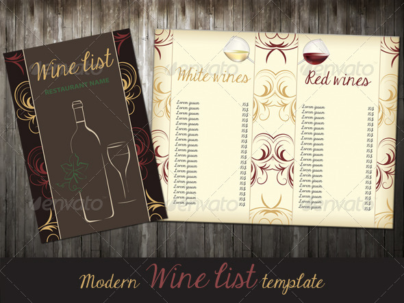 GraphicRiver Wine List 6642452