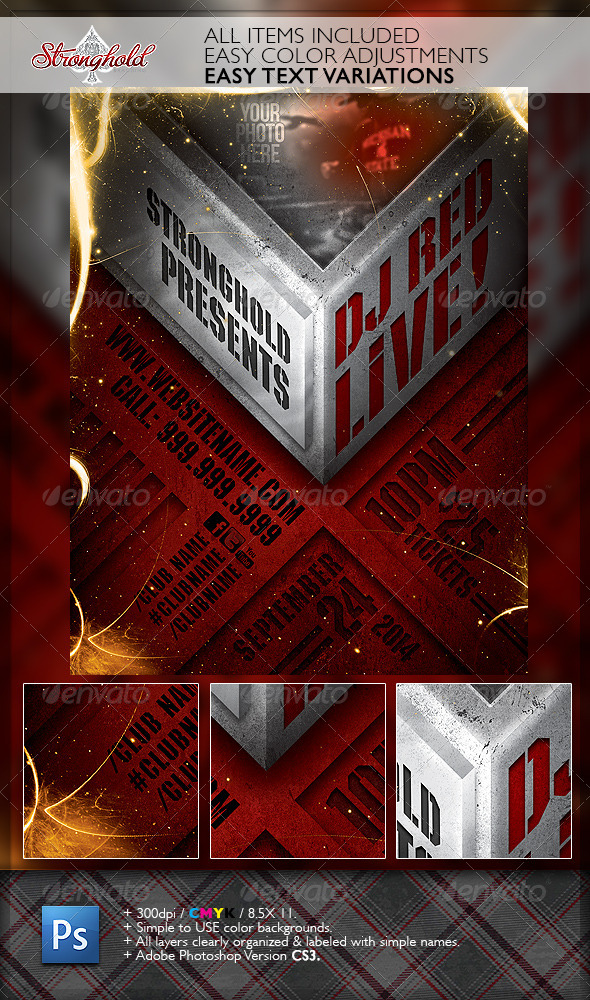 GraphicRiver Live DJ Event Flyer Template 6648416