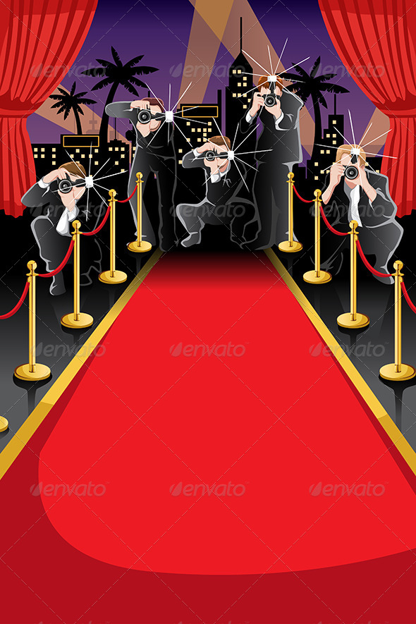 GraphicRiver Red Carpet and Paparazzi Background 6648422
