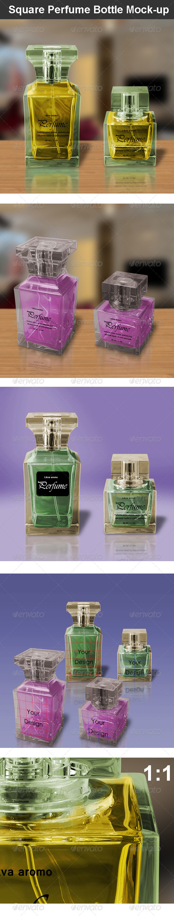 GraphicRiver Square Perfume Bottle Mock-up 6648457