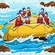People Rafting - GraphicRiver Item for Sale
