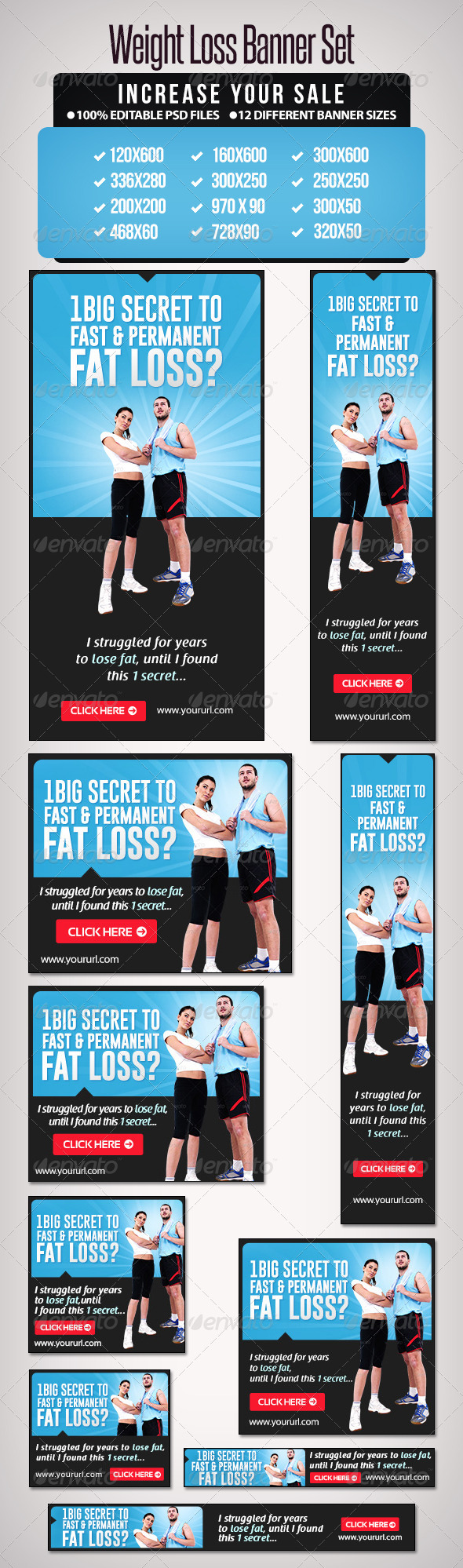 GraphicRiver Weight Loss Banner Set 5 6648538