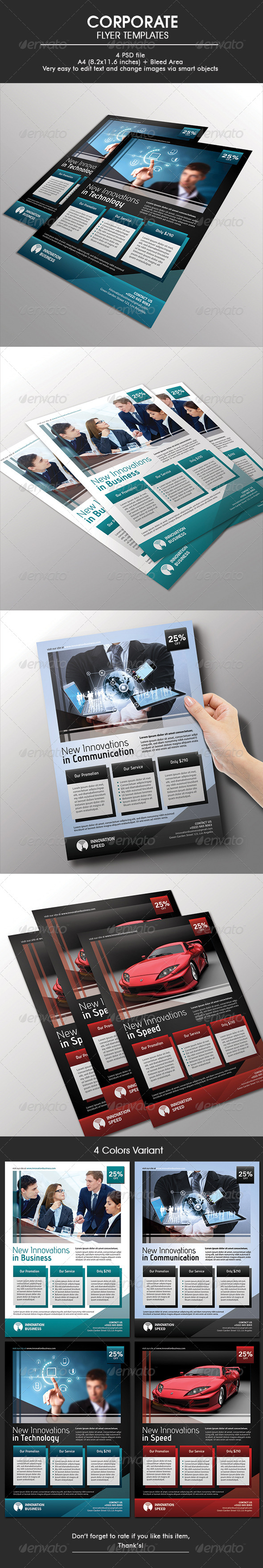 GraphicRiver Corporate Flyer Template 6650102
