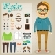 Hipster Character Pack for Geek Boy - GraphicRiver Item for Sale