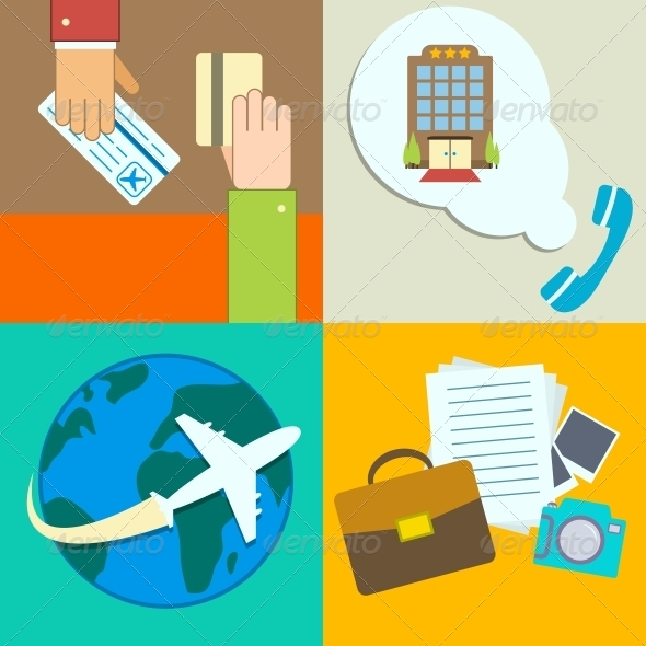 GraphicRiver Business Travel Infographics Icons Set 6650231