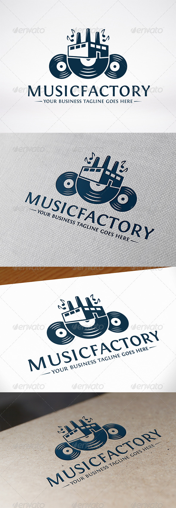 GraphicRiver Music Factory Logo Template 6650838