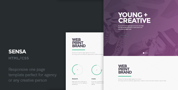 ThemeForest Sensa One Page Responsive Template 6627579