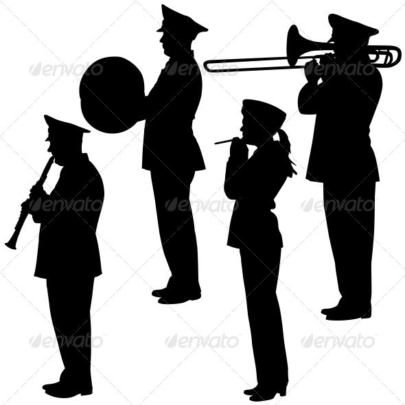 GraphicRiver Musicians Silhouettes 6651134