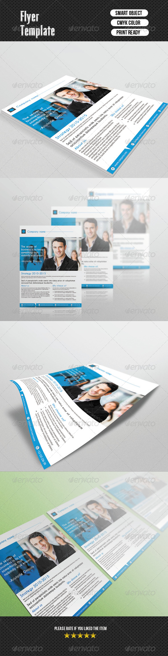 GraphicRiver Corporate Flyer Template 6651782
