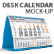 Desk Calendar Mock-Up - GraphicRiver Item for Sale
