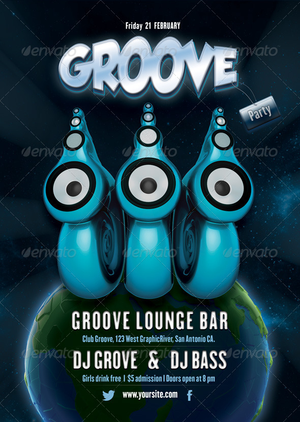 GraphicRiver Groove Party Flyer 6652607