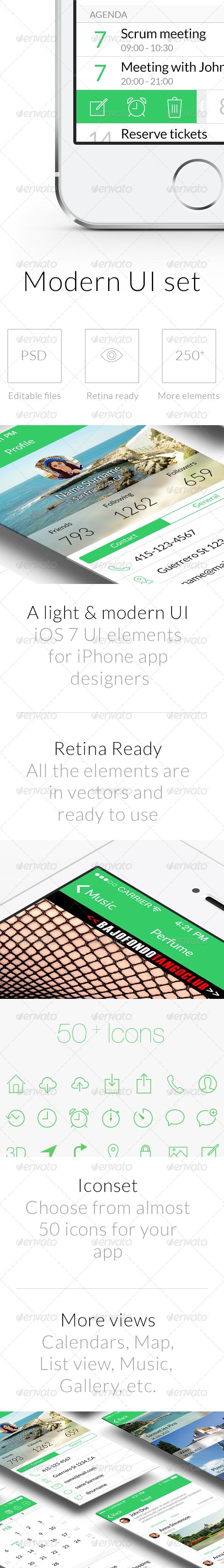 GraphicRiver Modern UI Set 6617894