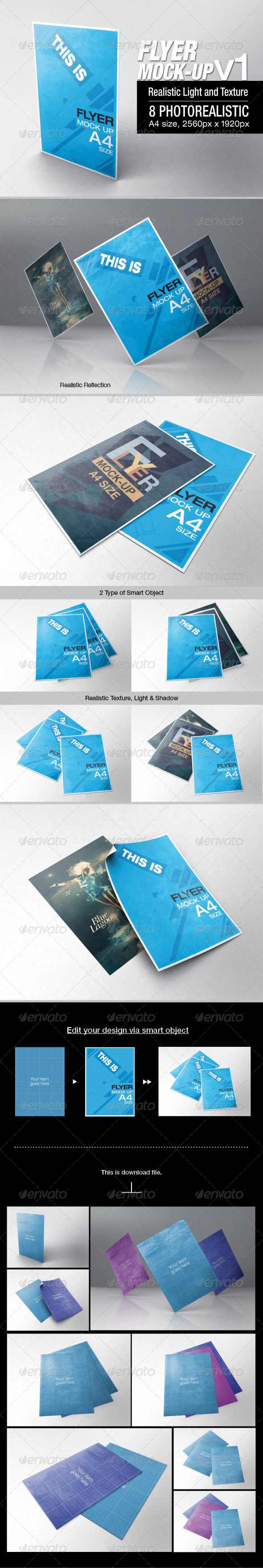 GraphicRiver Flyer Mock-up v1 6645787