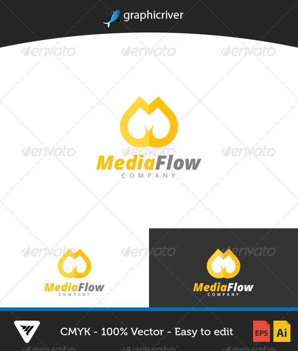 GraphicRiver MediaFlow Logo 6653370
