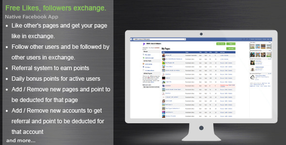 CodeCanyon Facebook Likes & Followers Exchange App 6592674