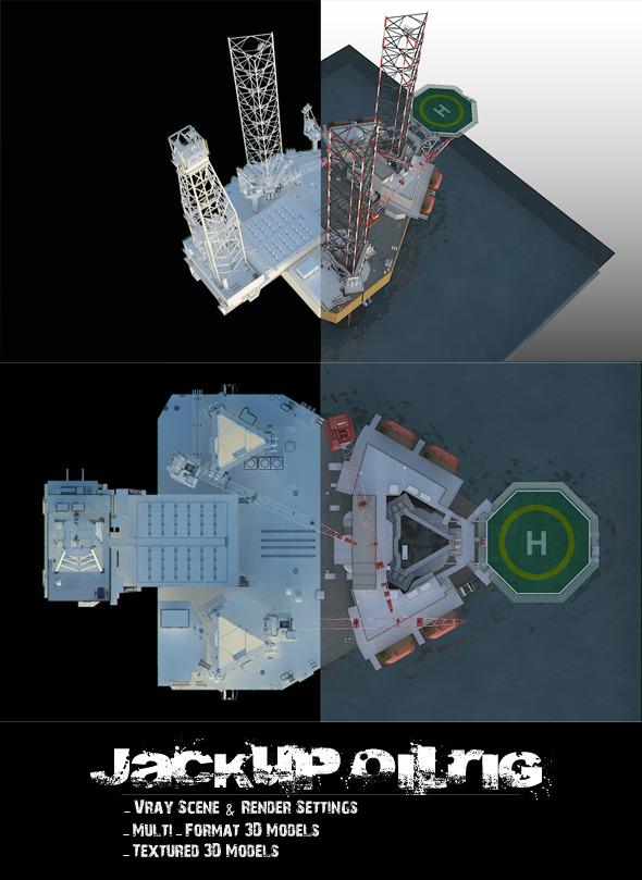 3DOcean Jackup OilRig 6654015