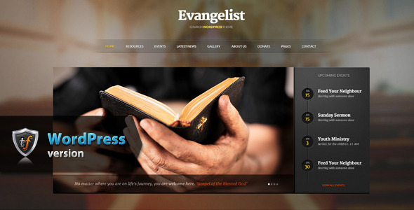 Evangelist - Church WordPress Theme - Churches Nonprofit