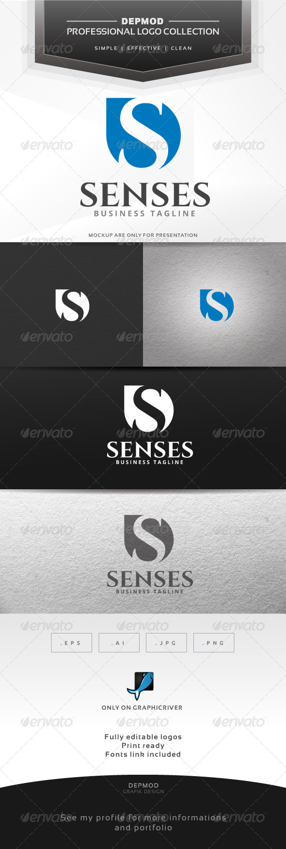GraphicRiver Senses Logo 6654745