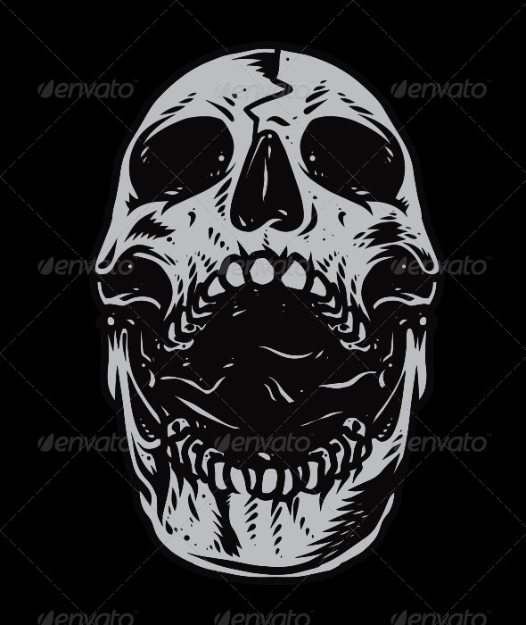 GraphicRiver Skull Head Vector 6654759
