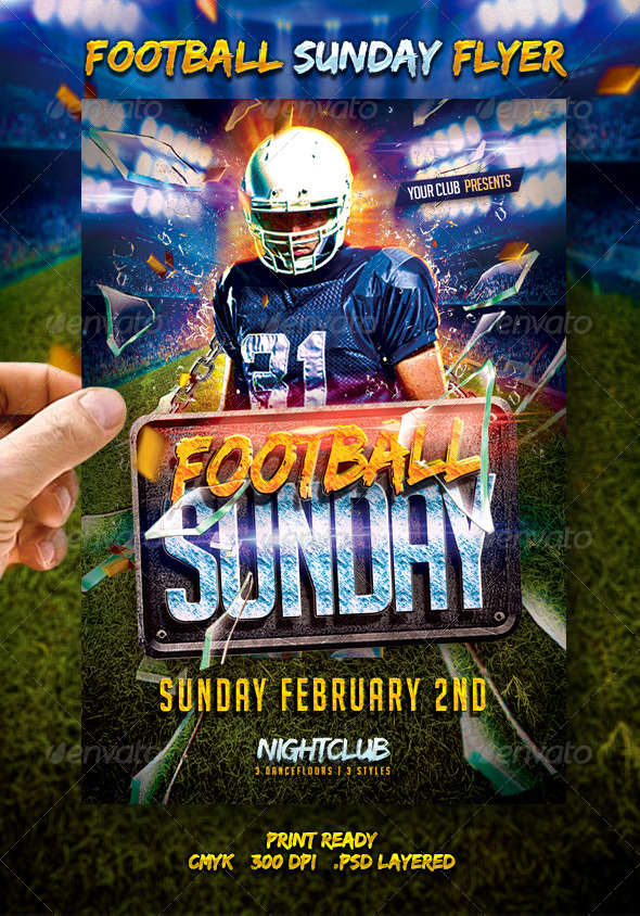 GraphicRiver Football Sunday Flyer 6655362