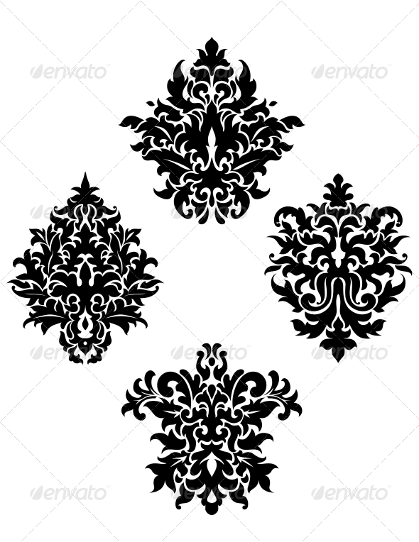 GraphicRiver Four Different Foliate Arabesque Motifs 6655639