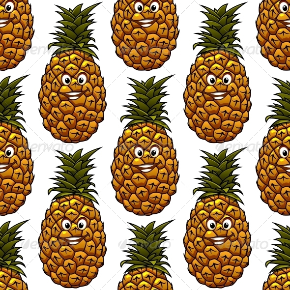 GraphicRiver Pineapple Pattern 6655736
